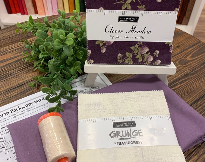 Quilting Quarantine Survival Kit Floral Purple and Gray
