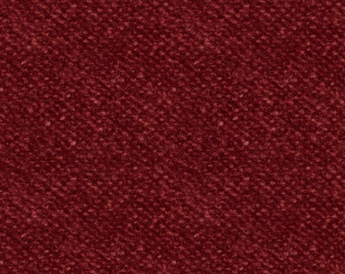 Maywood Woolies Red Crimson Brick Nubby Tweed FLANNEL Fabric 18507-R BTY