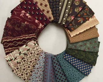 20 Civil War Marcus RJR Windham Reproduction Quilt Fabric Fat Quarter Bundle