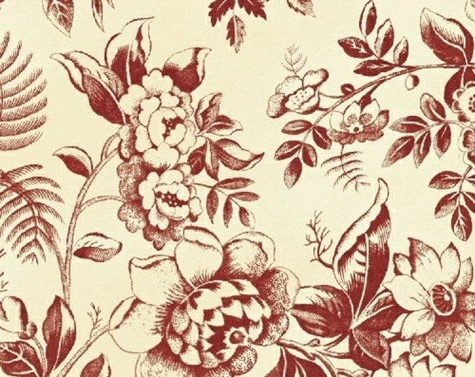 Windham Simply Cream Red Floral Civil War Reproduction Fabric 42892-2 BTY