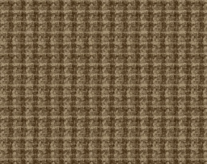 Maywood WOOLIES Brown Double Weave Plaid 18504-A  Flannel Fabric BTHY