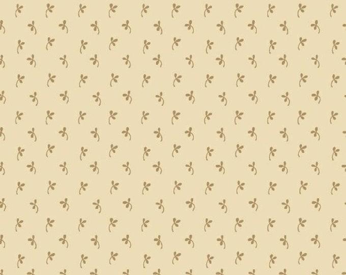 Marcus Old Sturbridge Village Civil War Christmas Gold Floral Background Fabric 5012-0177 BTY