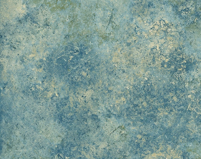 Northcott Stonehenge Gradations Blue Planet Teal Cream Mottled Granite Marble Basic Fabric 39300-48 BTY