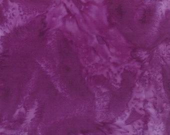 Hoffman 1895 Watercolors Solid Batik Fabric 1895-14 Purple BTY