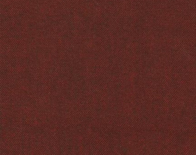 Kaufman Shetland Flannel Maroon Deep Red Crimson Weave Fabric 14770-100 BTY