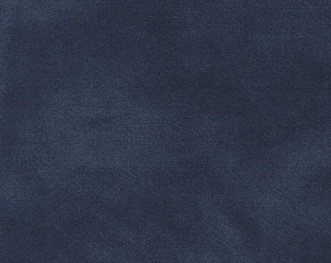 Maywood WOOLIES Color Wash Flannel Fabric Midnight Navy Dark Blue 9200-N BTHY
