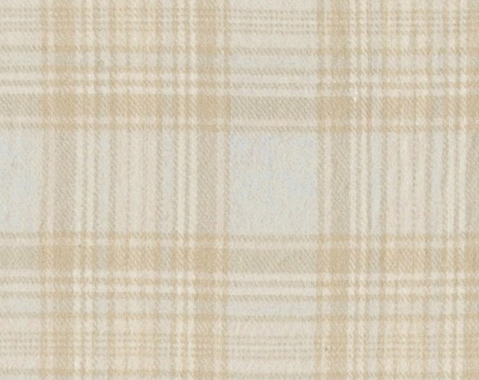 Marcus Primo Plaids  Plaid Flannel Grey Gray Tan Off White Cream Cool and Calm Fabric  J367-0141 BTY