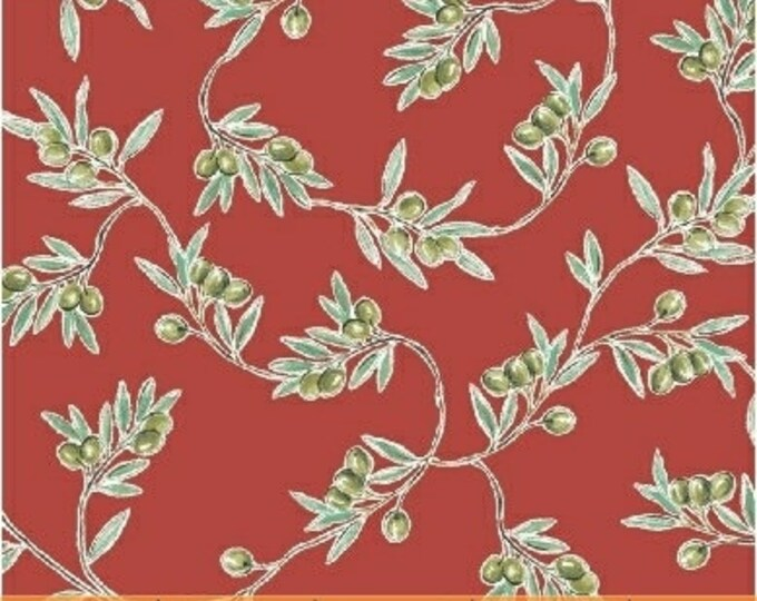 Windham Bella Toscana Tuscany Italian Olives Olive Red Fabric 51353-6 BTY