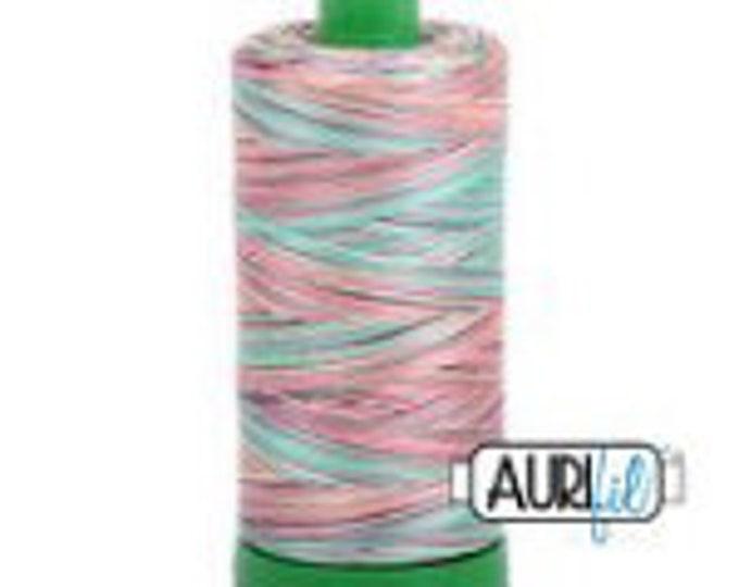 AURIFIL MAKO 40 Wt 1000m 1039y Color 3817 Marrakesh Variegated Quilt Cotton Quilting Thread