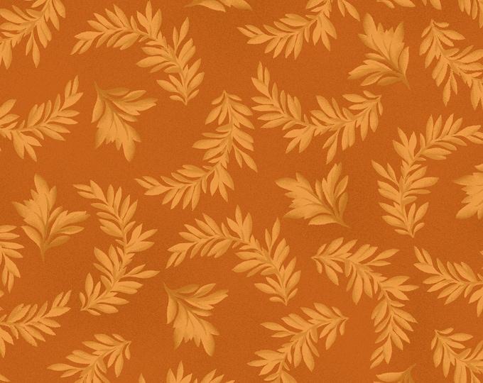 Maywood Fabric MAS9325-O A Fruitful Life Tonal Leaves BTY