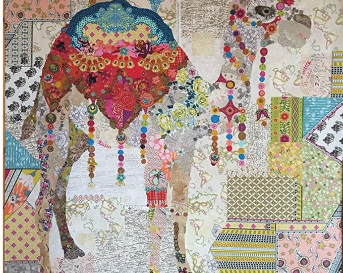 Fiberworks Laura Heine Collage Caleb Camel Quilt Pattern 45 x 53
