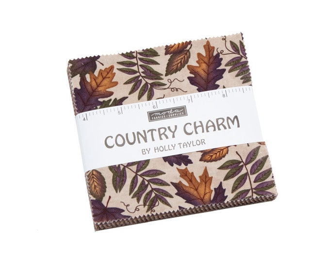 Moda Country Charm Moda Frabics 42  5 x 5  Charm  Pack  Quilt Squares Fabric By Holly Taylor