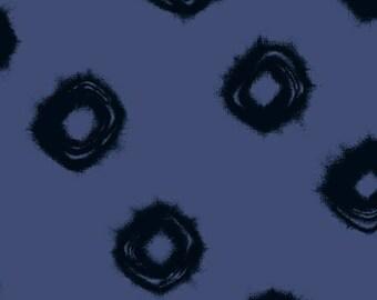 Windham Twilight Navy Blue Black Circle Swirl 100% Cotton Mud Cloth 41094-2 BTY