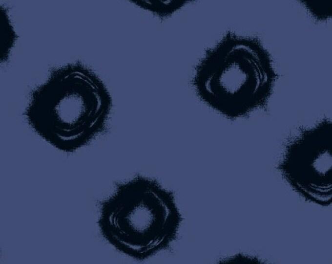 Windham Twilight Navy Blue Black Circle Swirl 100% Cotton Mud Mudd Cloth 41094-2 BTY