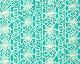 Free Spirit Amy Butler True Colors Sea Foam Seafoam Aqua Lace Fabric BTY PWTC023