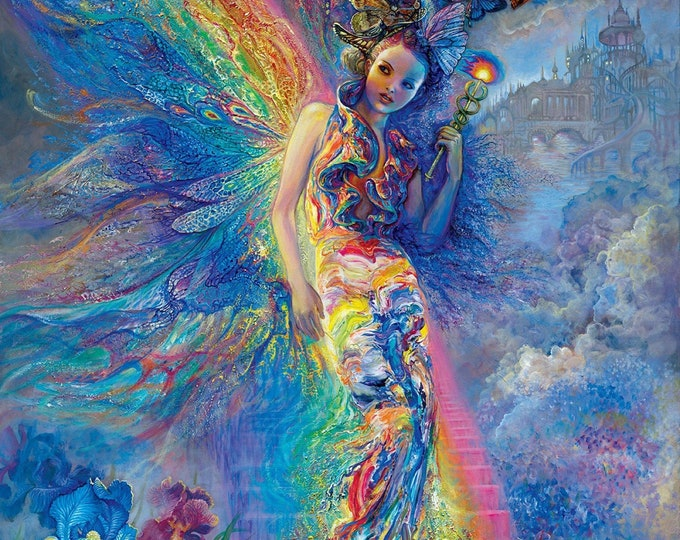 "Ray of Hope Large Panel 100% cotton 36"" x 44""  by Josephine Wall"