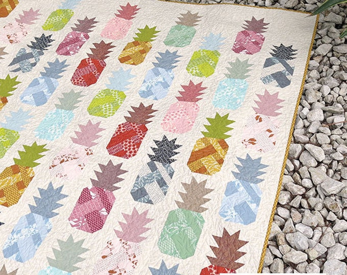 Pineapple Farm Elizabeth Hartman Quilt Modern Pattern 4 Sizes