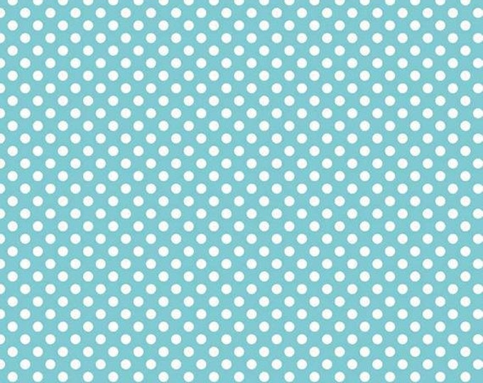 Riley Blake Designs Swiss Dots Aqua C670 Cotton Fabric BTY