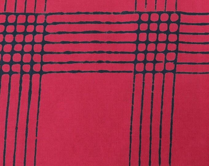 NEW Andover by Alison Glass Chroma Sun Prints 8132-E2 Cherry Plaid Batik Fabric BTY