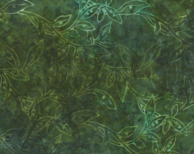 RJR Jinny Beyer Malam Batik Green Hunter Forest Floral Leaf Leaves Batik 2146-003 Fabric BTY