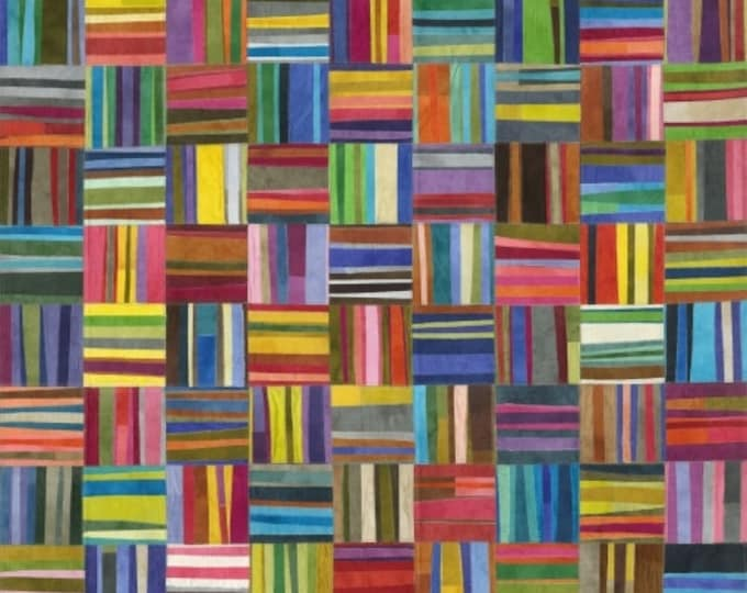 Windham Fabrics CURIOSITY  Multi color Marcia Derse Squares and lines  Cotton  51957D-X BTY
