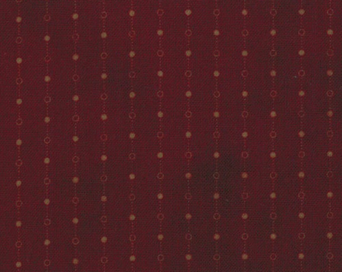 Moda Gatherings Burgundy Dot Chain Patriotic Primitive Gatherings Favorites Fabric 1060-18