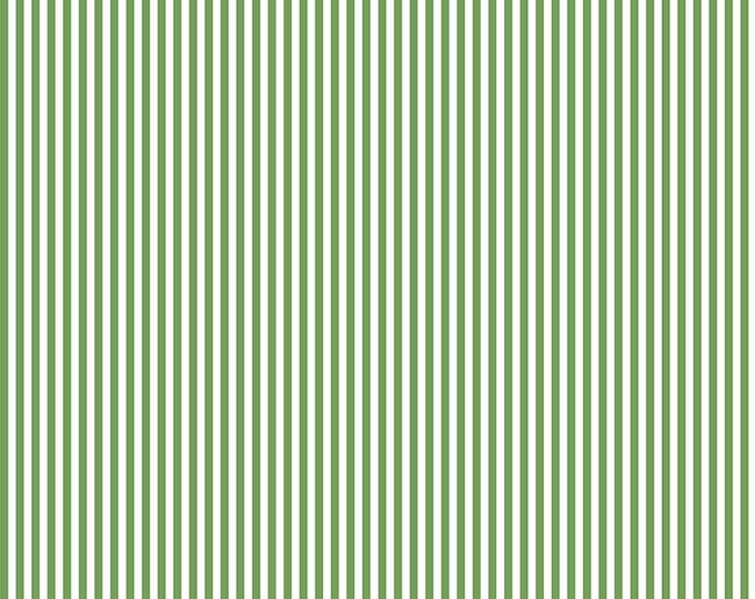 "Riley Blake Designs Green 1/8"" Stripe Basics 100% Cotton C495 BTY"