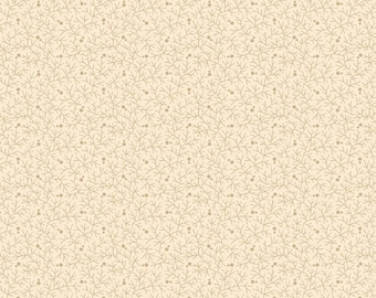 Marcus Old Sturbridge Village Civil War Cream Beige Shirting Background Fabric 2833-0177 BTY