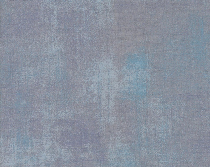 Moda Grunge Basics ASH Gris Gray Grey Blue Mottled Background 30150-354 Fabric BTY