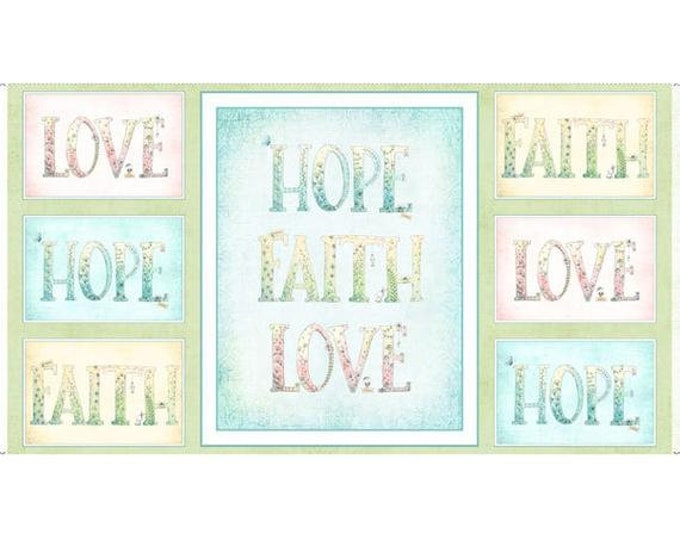 Quilting Treasures  1649 26676 x Sweet Thoughts  Cotton  Fabric Panel