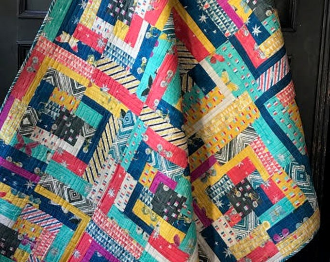 Beyond the Reef Post and Beam Windham Wonder Modern Quilt Kit 54 x 72