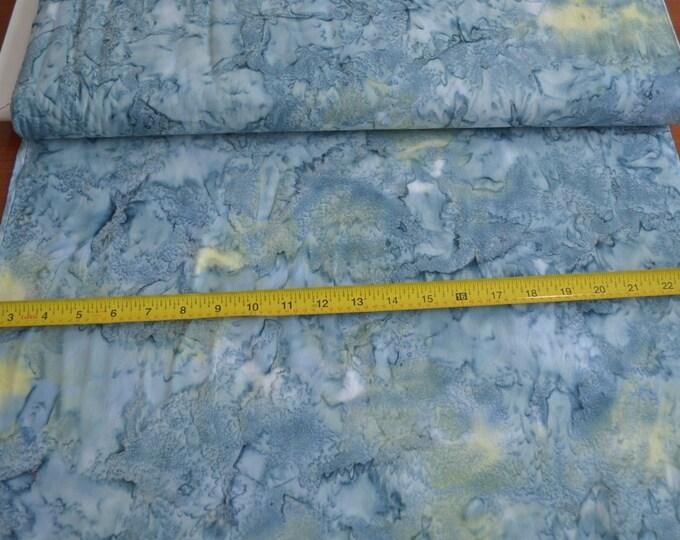 Hoffman 1384 Smoothies Mottles Batik Fabric 1384-584 Twilight Blue Green Yellow BTY