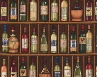 RJR Over a Barrel Dan Morris Wine Grape Cork Bottle Vineyard Wine Cellar Fabric BTY