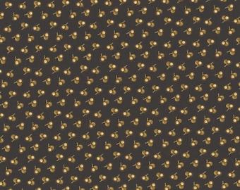 RJR Chocolate & Bubble Gum Brown Tonal Cherries Civil War Fabric 2723-001 BTHY