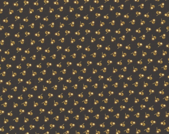 RJR Chocolate & Bubble Gum Brown Tonal Cherries Civil War Fabric 2723-001 BTY