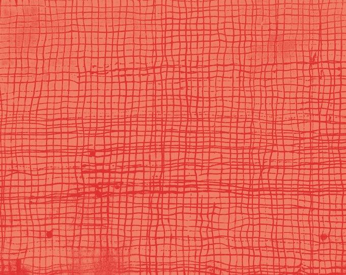 Windham Treasure Hunt by Marcia Derse Tangerine Orange Plaid Lines Grey with Black 43191-22 Fabric BTHY