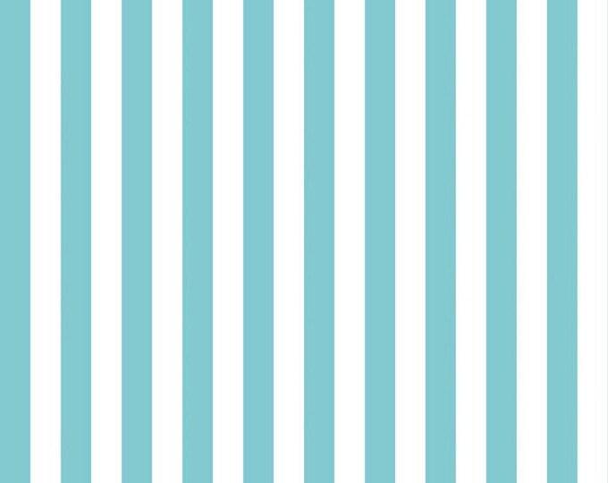 Riley Blake  Aqua Half Inch Stripe by Riley Blake Designs (C530 20)