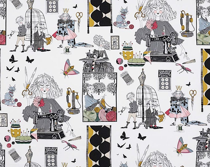 Alexander Henry The Ghastlies A Ghastlie Craft 8714-A Floral Fabric BTY
