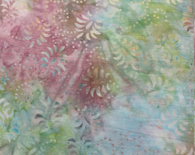 Wilmington Batavian Batiks Pink Green Blue Pastel Batik Fabric 1400 22120 432 BTY