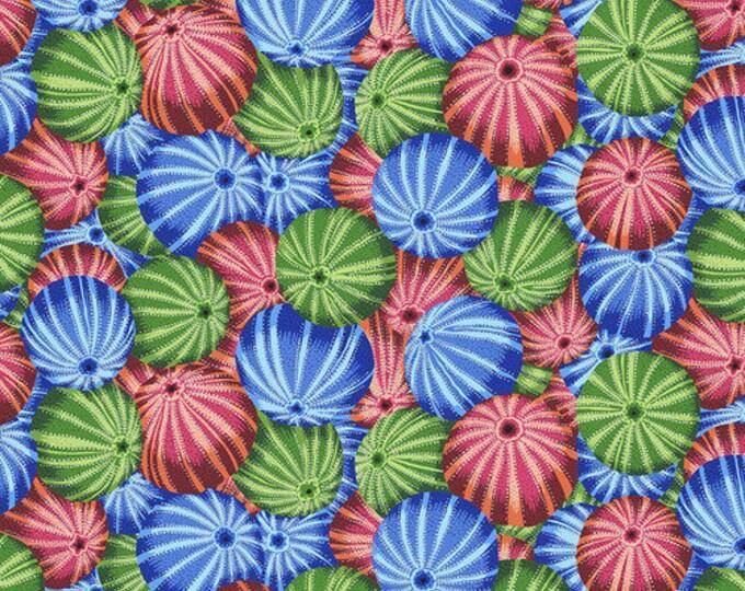 NEW Free Spirit Kaffe Fassett Sea Urchins Red Pink Blue Green Floral PWPJ100.MULTI Fabric BTY