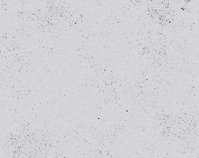 Andover Declassified Spectrastatic Giucy Giuce LUNAR Gray Grey Black Speckle Static Dot Fabric BTY 9248-CL