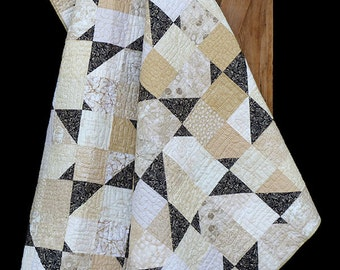 Madison Cottage Cracked Pepper Black White Batik Quilt Pattern
