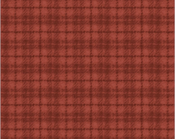 Maywood Woolies Red Orange Rust Plaid FLANNEL Fabric 18502-RO BTHY