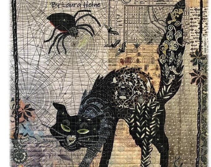 Black Cat Collage Quilt Pattern by Laura Heine