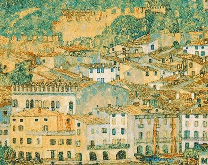 Robert Kaufman Gustav Klimt Spring 2019 The Lake Garda Landscape Cotton Gilded Fabric BTY 18656-73