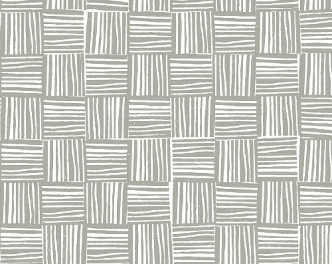 Windham Lemmikki Lotte Jansdotter Gray Grey Charcoal Line Hatch Fabric 43090-5 BTY