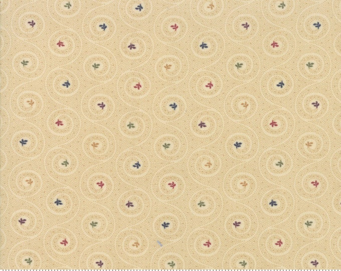 Moda Kansas Troubles Favorites 2019 Tan Multi Swirl Floral Civil War Fabric 9603-11 BTY