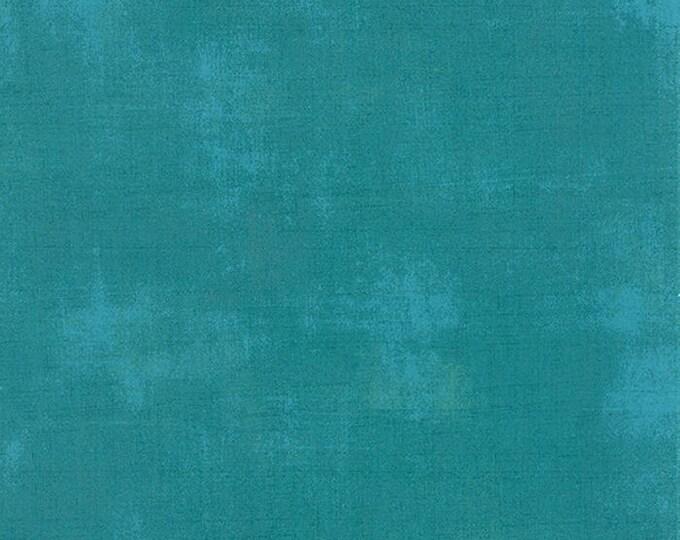 Moda Grunge Basics OCEAN Blue Teal Green Mottled Background Fabric 30150-228 BTY