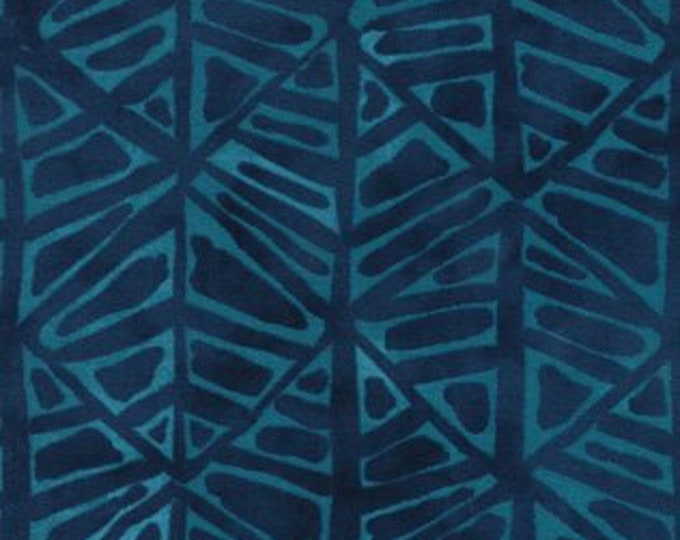 Moda Simple marks by Malka Dubrawsky cotton Light Blue Geometric on Dark Blue Background 23224-21  BTY