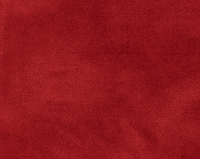 Maywood WOOLIES Color Wash Flannel Fabric Tomato Soup Red Crimson 9200-R BTHY